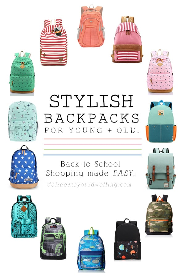 The best Stylish Back to School Backpacks under $50, Delineate Your Dwelling