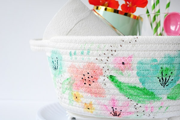 Watercolor Basket DIY detail, Delineate Your Dwelling