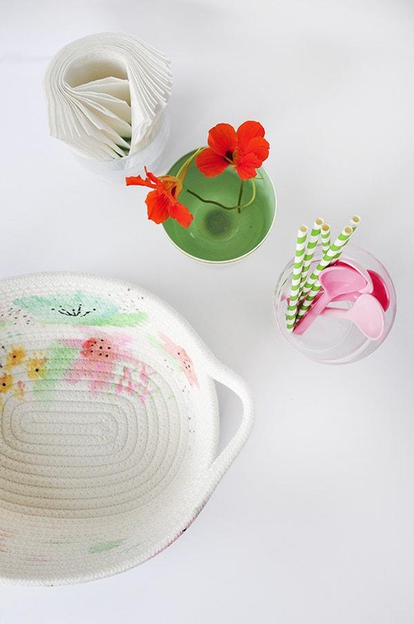 Watercolor Basket planview