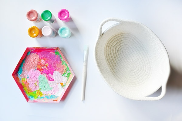 Watercolor Basket supplies