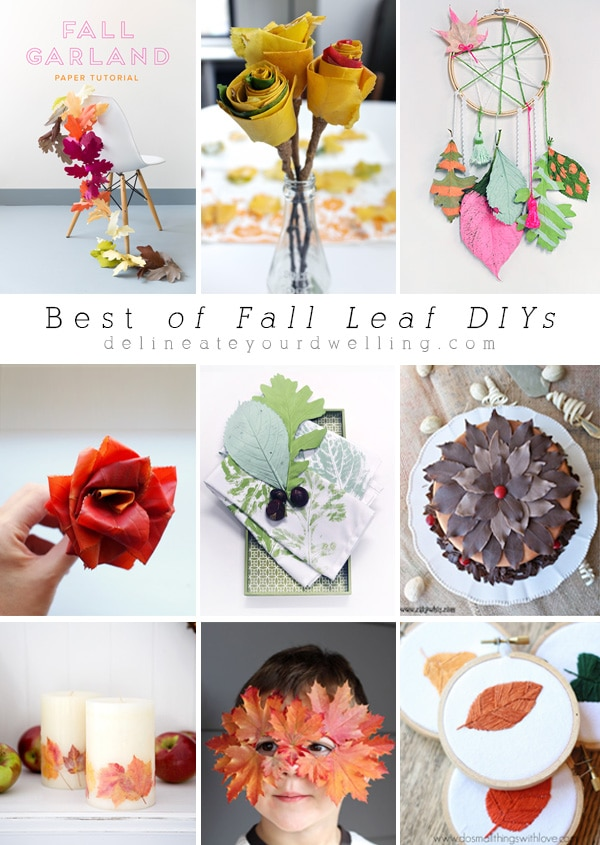 Leaf DIYs and crafts
