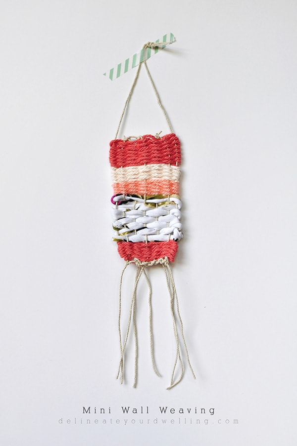 How to make a DIY Mini Wall Weaving! Delineate Your Dwelling