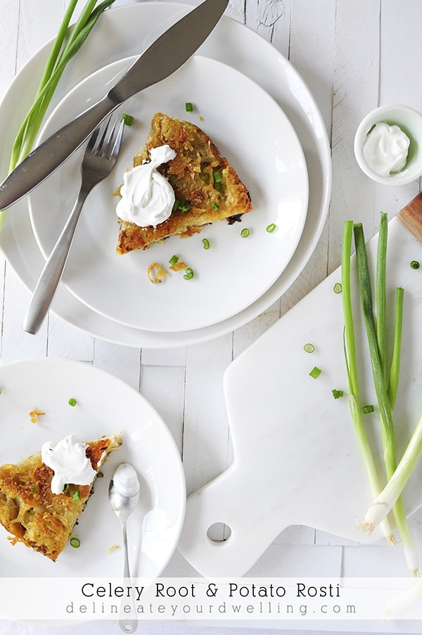 Celery Root and Potato Rosti vegetable recipe