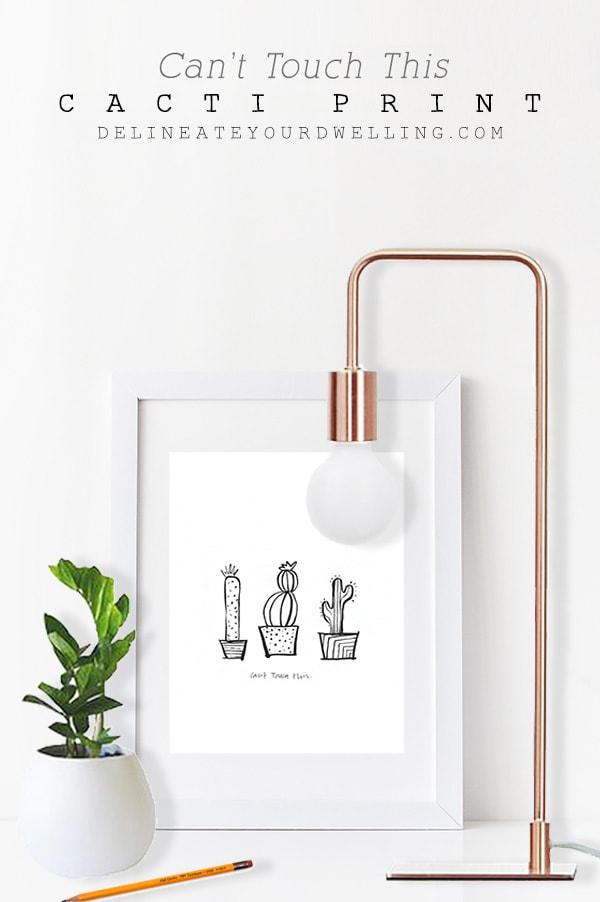 FREE PRINTABLE Cactus Print