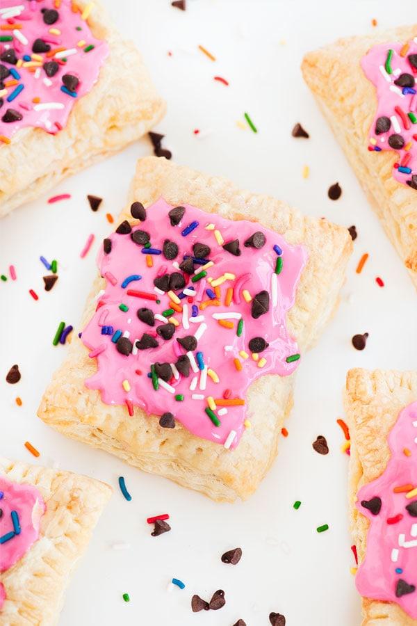 Confetti cookie dough pop tart