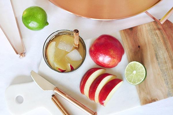 Apple Cider Mule Cocktail ingredients