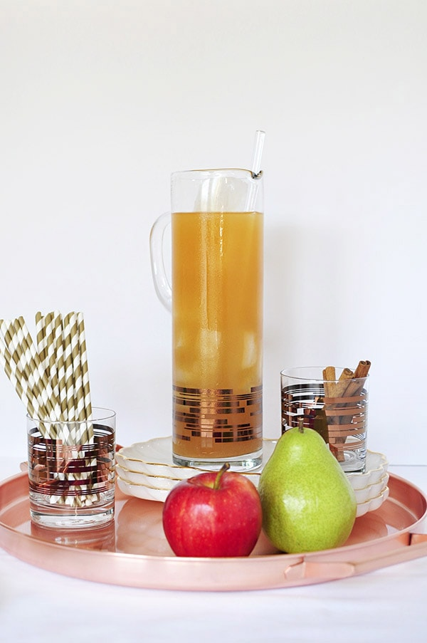 Fall Apple Cider Mule Cocktail