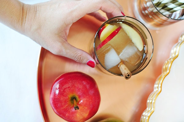 Perfect Fall Apple Cider Mule Drink