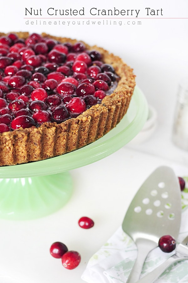 Fall Baking recipe Nut Crusted Cranberry Tart, Delineate Your Dwelling