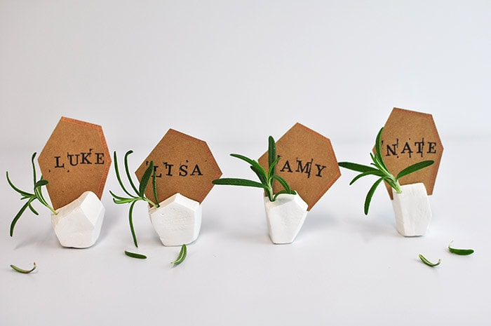 I Paired My Place Card Holders With Emerald Green Goblets A Few Orange And White Pumpkins Rose Gold Silverware