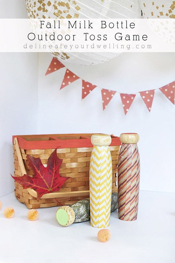 Learn how to create and customize your very own Fall Milk Bottle Toss Game!  This is such an old classic game and I love that you can craft and really make it your own. Delineate Your Dwelling