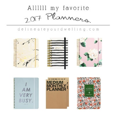 1 Favorite 2017 Planners