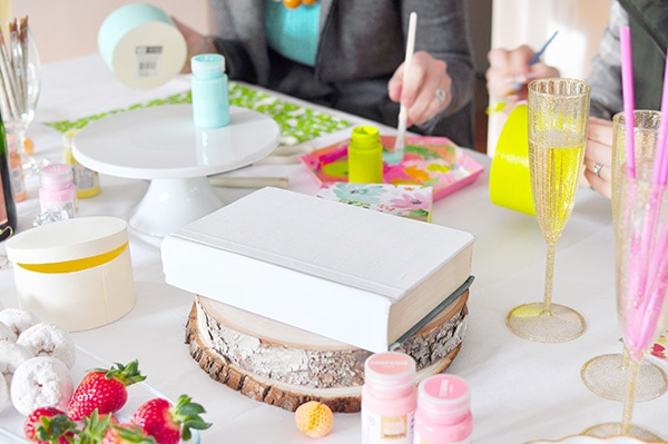 How to host a Craft Party with friends and drinks, Delineate Your Dwelling