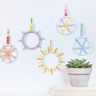 1 DIY Mini Washi Tape Wreaths