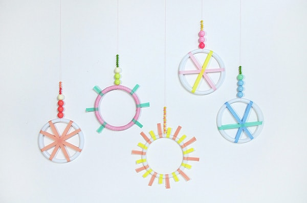 DIY Mini Washi Tape Wreaths 2