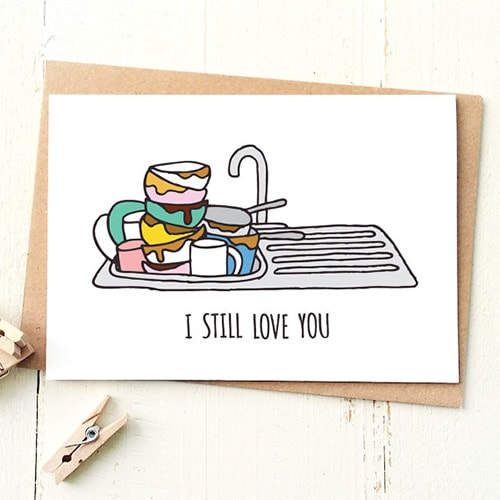 Dishes, Valentine's Day cards