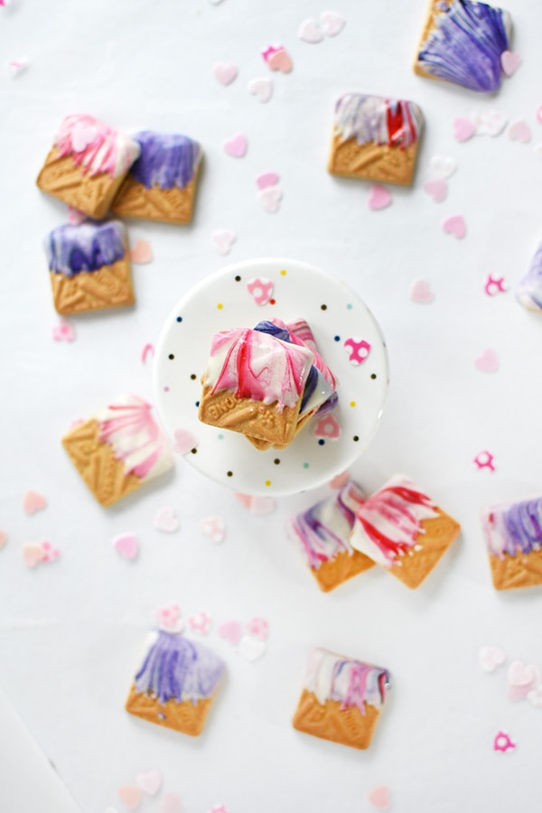 Marbled Valentine Shortbread Cookie, Delineate Your Dwelling