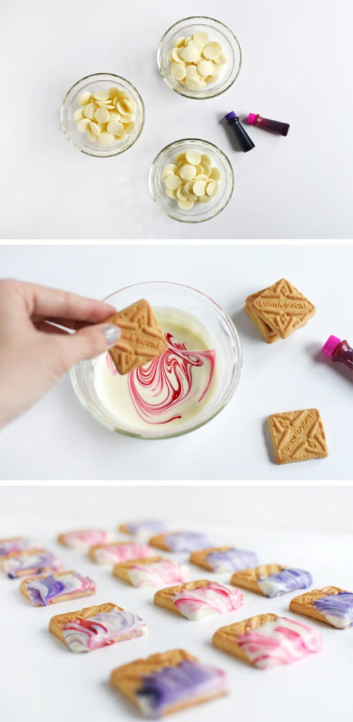 Marbled Valentine Cookies steps