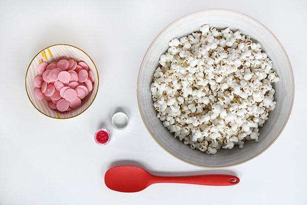 Pink Popcorn Valentine supplies