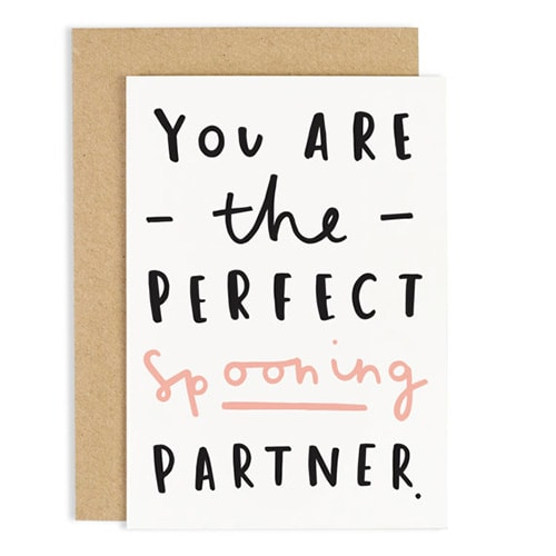 Spooning, Valentine's Day card