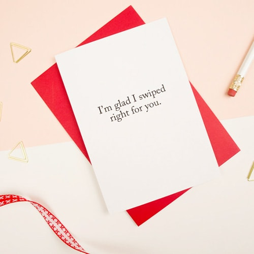 Swipe Right, Valentine's Day Card