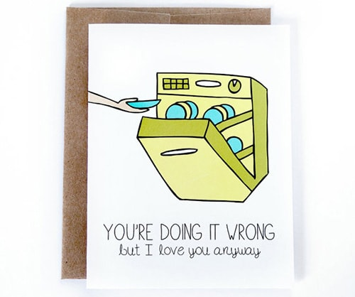 Youre doing it wrong, Valentine's Day card
