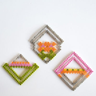 1 Colorful Perler Bead Coasters