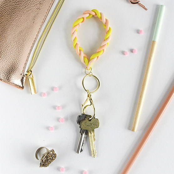 Braided Clay DIY Keychain