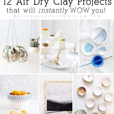14 Easy Air Dry Clay Projects and Crafts that will wow
