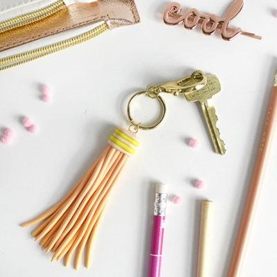 1a DIY Tassel Clay Keychain