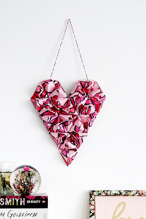 Red 3d-origami-valentine-heart-wall-hanging-no-title