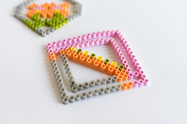 Colorful Perler Bead Coasters