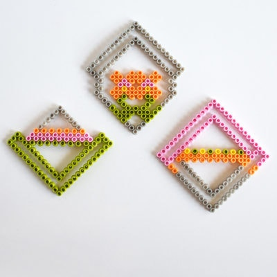 Colorful Perler Bead Coasters, Delineate Your Dwelling