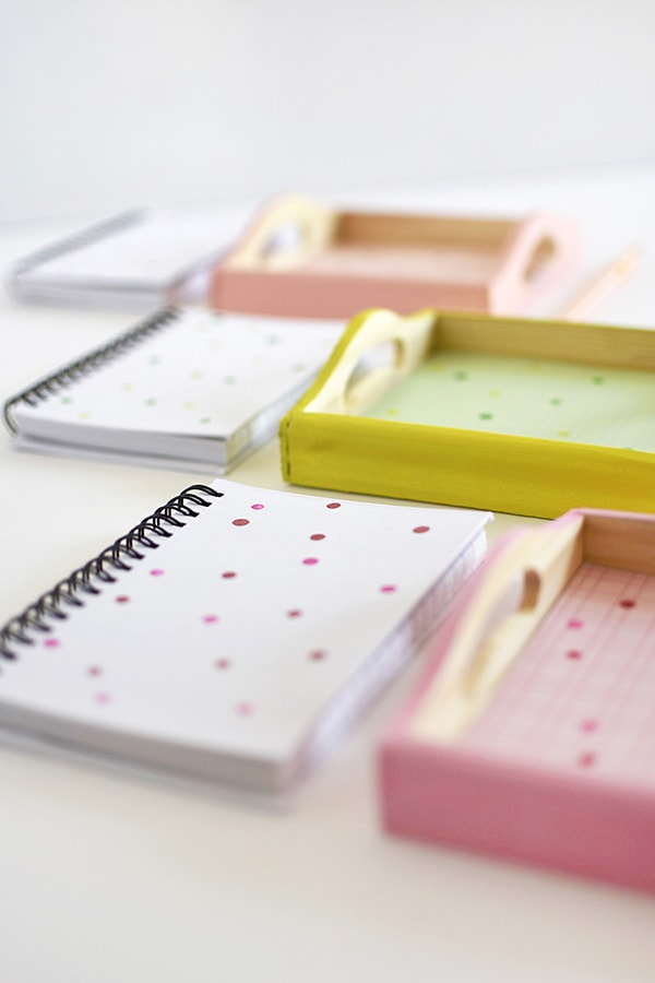 Colorfully Painted DIY Office Trays, Delineate Your Dwelling