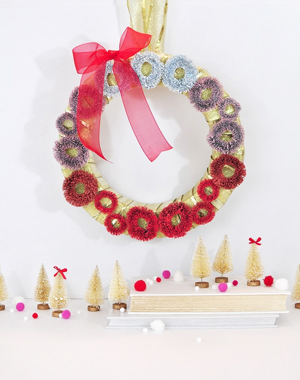 Red Ombre-Christmas-Wreath