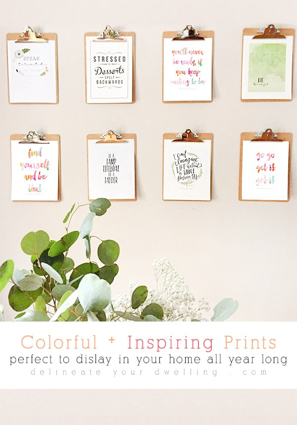Colorful Inspiring Prints, Delineate Your Dwelling