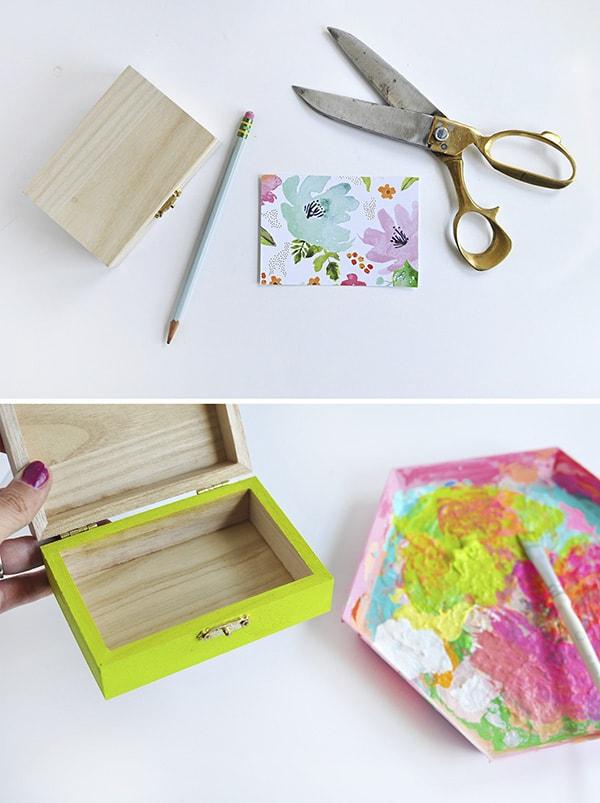 Crafting Steps DIY Floral Painted Box Steps