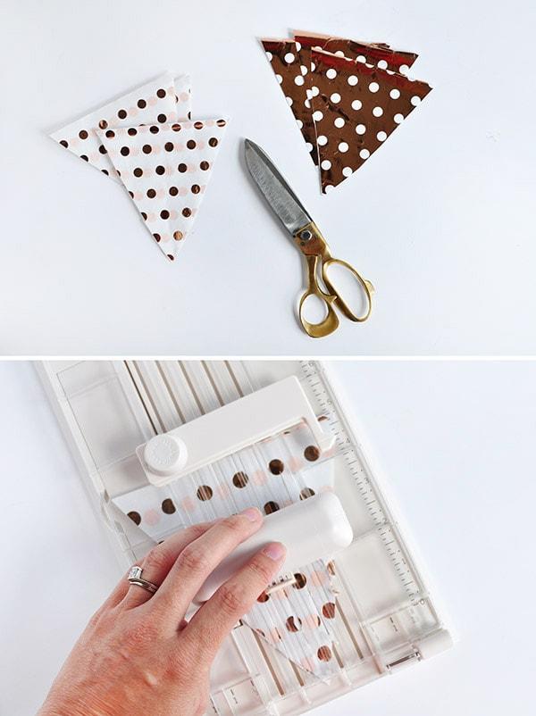 Crafting Steps DIY Fringed Tissue Paper Banner