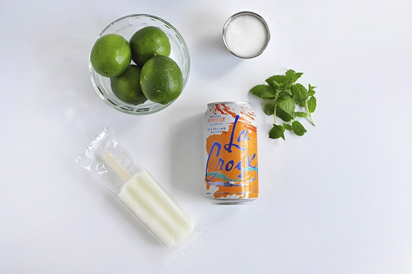 Crafting Steps Lime Mint Freeze Supplies