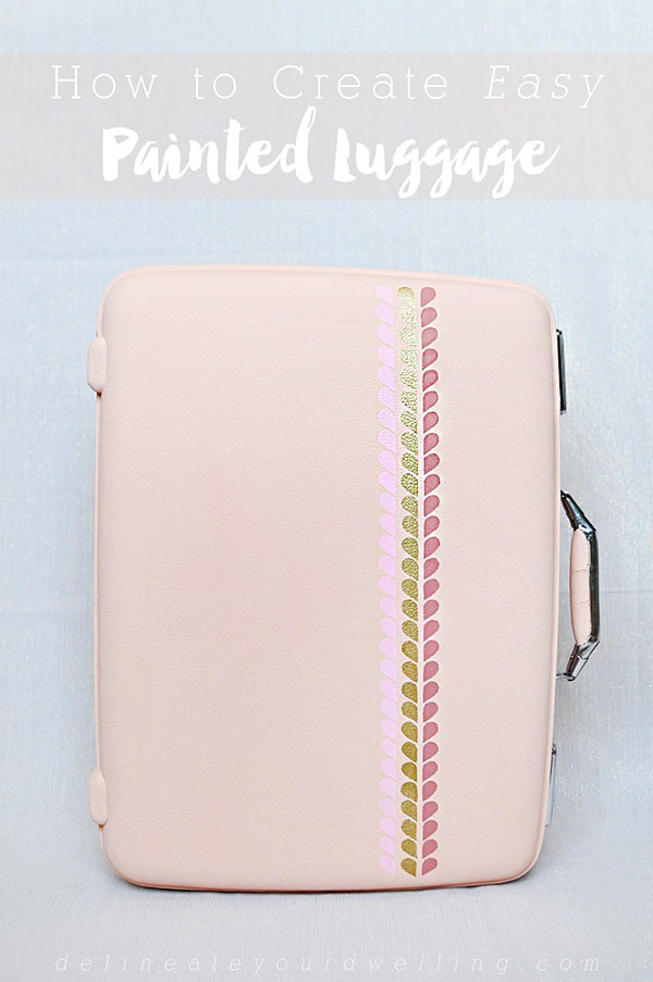 Easy-Painted-Luggage coral, peach and orange