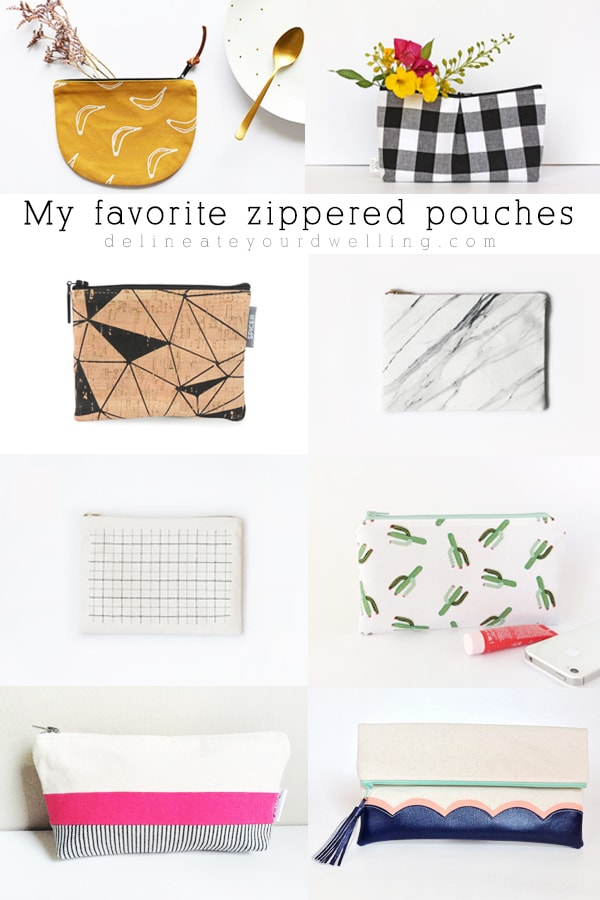 Favorite Zippered Etsy Pouches
