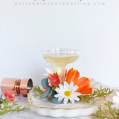 Clever and Inexpensive Faux Floral Champagne Saucer Glasses, Delineate Your Dwelling
