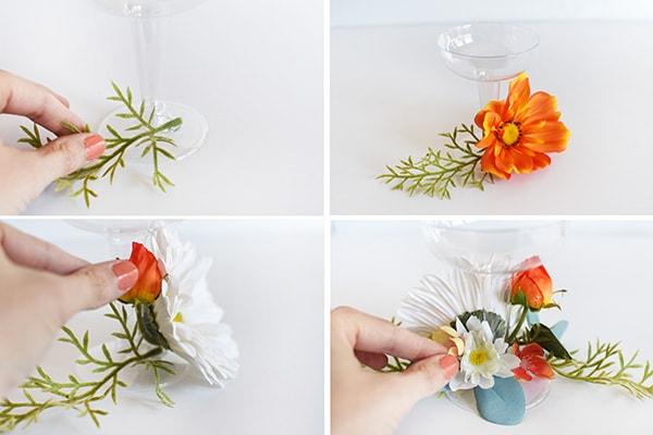 Floral Drinking Glasses steps
