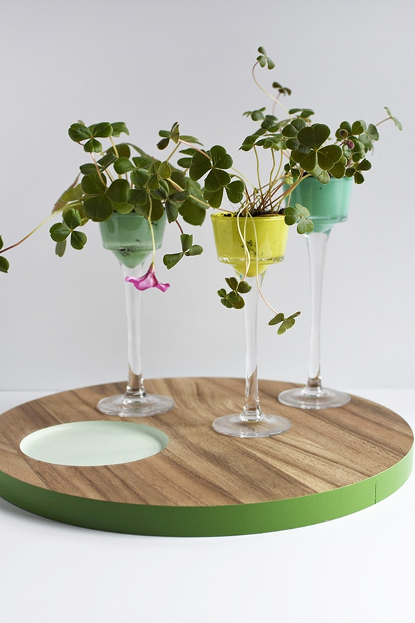 Learn how to create the perfect St. Patrick's Day Inspired Four Leaf Clover craft for adults! Make DIY mini planters for all your Shamrock dreams to come true. Delineate Your Dwelling #fourleafclover #fourleafclovercraft #shamrockcraft #stpatricksdaycraft