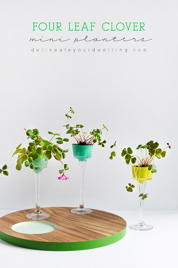 St. Patrick's Day Inspired Four Leaf Clover craft