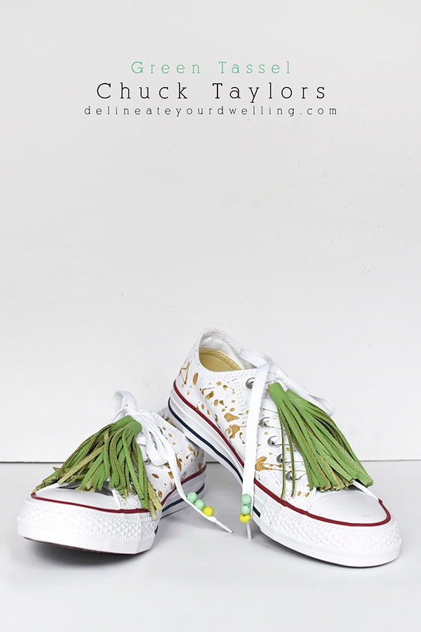 DIY Green Tassel Chuck Taylor Tennis Shoes, Delineate Your Dwelling