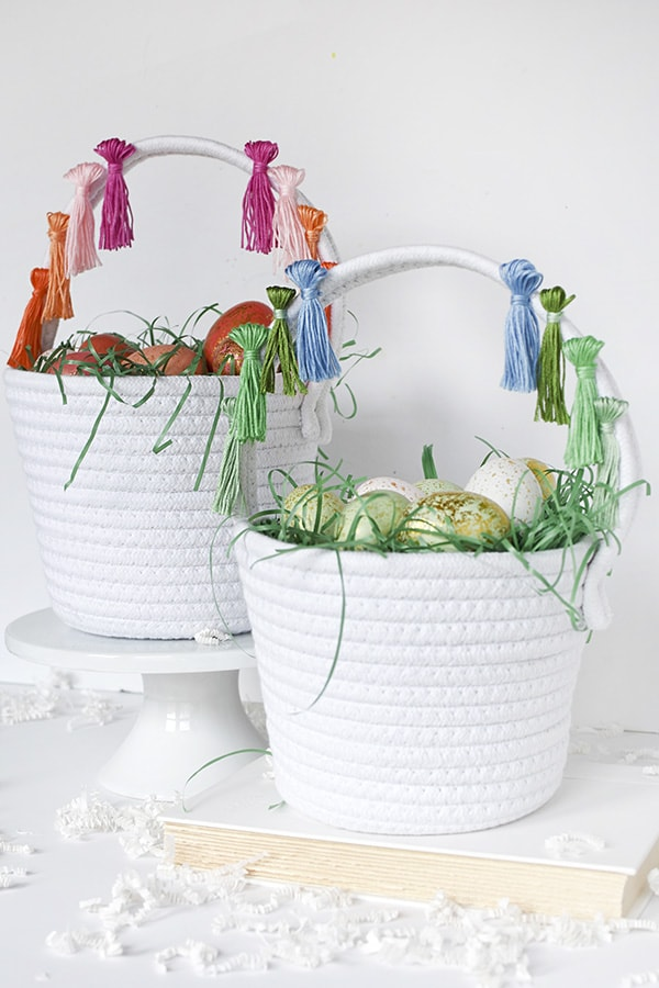 DIY Tassel Easter Egg Baskets