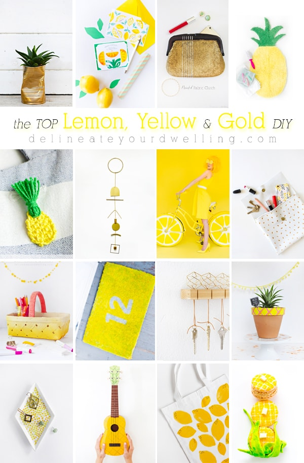 The Top Lemon, Yellow, Gold DIY crafts, Delineate Your Dwelling