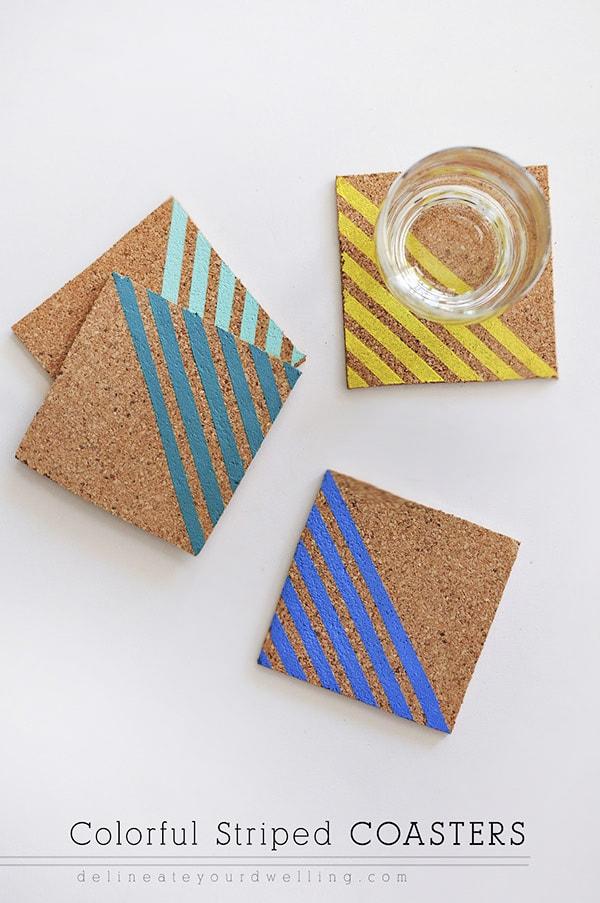 Colorful-Striped-Coasters