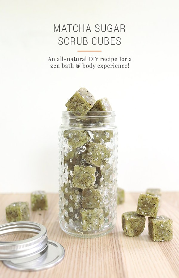 DIY-Matcha-GreenTeaSugar-Scrub-Cubes-Recipe green